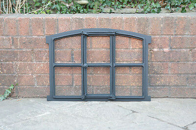 60 x 42 cm cast iron window frame barn stable industrial metal - FREE DELIVERY