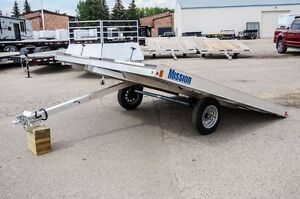 Mission 10' - 2 Place Snowmobile trailer Moose Jaw Regina Area image 1