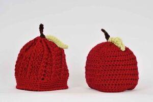 Brand new handmade baby hat - Apple, photo shoot