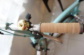 BROMPTON Birdy Natural Leather Grips Light Brown Nubuck
