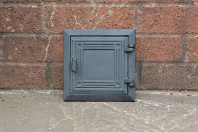 17.5 x 17.5 cm cast iron flue fire door clay bread oven pizza stove smoke house