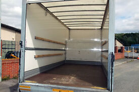 6am-11pm XL LUTON VAN TAIL LIFT 2 man & van urgent van hire furniture movers ALL LONDON vans 24hr