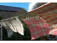 BEAUTIFUL WELSH WOOL BLANKET QUILT HONEYCOMB WAFFLE VINTAGE offers welcome