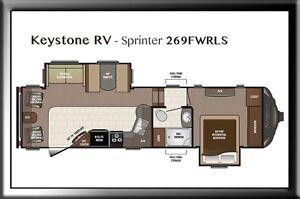 Keystone RV Sprinter 269FWRLS Moose Jaw Regina Area image 2