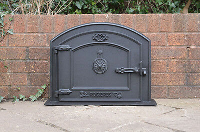 58.5 x 43 cm cast iron fire door clay bread oven doors pizza stove smoke house N for sale  Taunton
