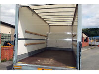 LUTON VAN TAIL LIFT man and van hire european movers italy milan to london empty return loads uk