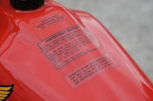 VINTAGE MOTOCROSS 1978 1979 1980 Honda CR125R CR250R Warning decal stickers
