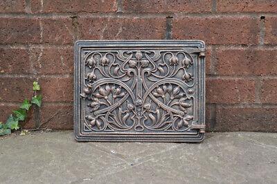 31.7 cm x 24.5 cm cast iron fire door clay/bread oven door/pizza smoke house