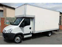 CANARY WARF man and van XLARGE luton van tail lift 6am-11pm cheap man and van hire office storage