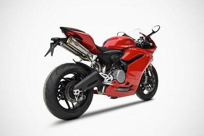 Ducati 959 Zard Double Seat Full Exhaust System Racing Gold Cap Silencer Motogp