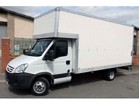 6am-11pm LUTON VAN TAIL LIFT hire cheap removals stockwell streatham stroud green surrey quays man
