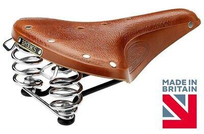 Brooks England Men's B67 Handmade Leather Saddle - Honey