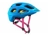 Scott Vivo Plus MTB Cycling Helmet - Blue _ Start Fitness RRP £89.99 Brand New in the box