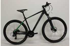 Cube Aim Pro mountain bike 19 inch leg, comes with stand, lights and heavy duty lock all new unused.