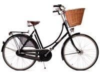 Pashley Princess Black with Brooks saddle and basket - As NEW