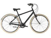 Raleigh wayfarer hybrid matte black bike