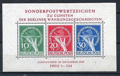 Berlin Block I mit Plattenfehler I Postfrisch Geprüft BPP Schlegel  KW= 2000,-M€