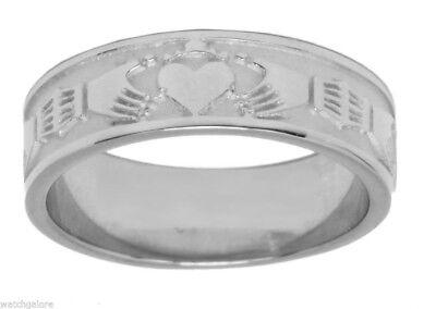 Men's Silver Or Gold Irish Claddagh Wedding Ring Band
