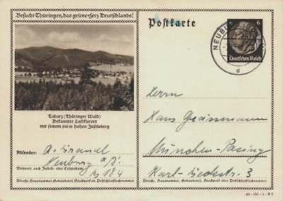 D.Reich Ganzsache P 236 TABARZ gelaufen NEUBURG 7.12.40 (43524)