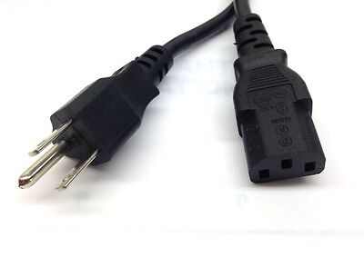3 Prong POWER CORD CABLE For Dell PC Computer & Monitor ()