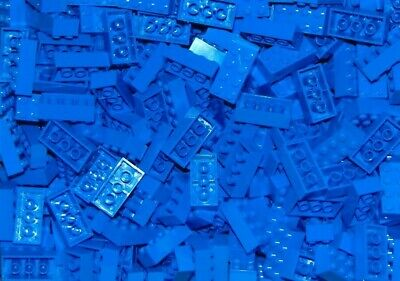 NEW Lot of 25 LEGO 2x4 BLUE BRICKS PIECES BULK