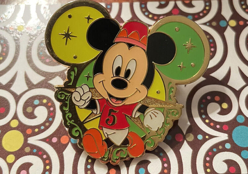 Disney Tokyo Disney Sea 5 Years Prize Pin Featuring Jogging Minnie Mouse