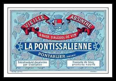LA PONTISSALIENNE ABSINTHE DISTILLERY LABEL PRINT