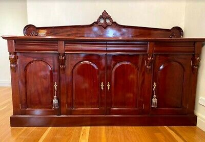 Mahogany Display Cabinet with Storage