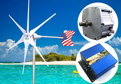Patriot 1600 W PMA 12 V AC 6 Blade Wind Turbine Generator kit +Charge Controller