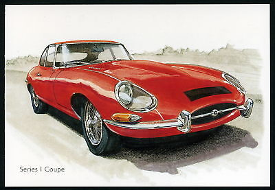 JAGUAR E-TYPE - Postcard Set - Series I II III Roadster