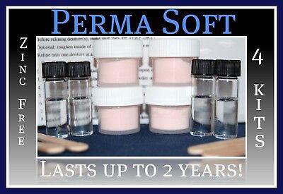 Denture Reline (Perma Soft Reline~Denture Adhesive Alternative!~4 kits~False Teeth)