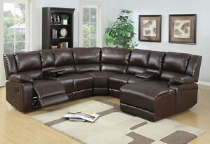 5 pc brown bonded leather reclining sofa recliner sectional sofa set espresso & Sectional With Recliners. Full Image For Winsome Full Size Of ... islam-shia.org