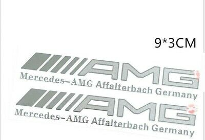 AMG Mercedes Aluminum 1x Aufkleber. Hochwertige/ Verarbeitung.