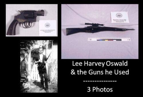 Lee Harvey Oswald Guns PHOTOS John F Kennedy Assassination RIFLE REVOLVER Shot