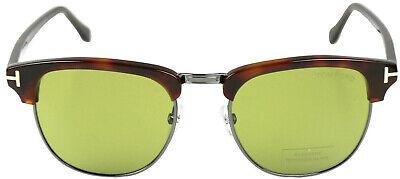 Tom Ford Sonnenbrille Henry Sunglasses FT0248 Havanna Braun Gläser Grün TF248