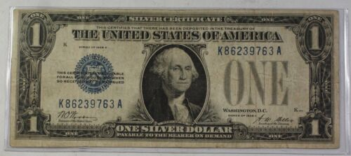 Series of 1928 $1 One Dollar Silver Certificate Note VG-F Old US Currency