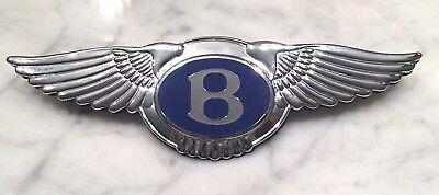 "Bentley Continental Flying Spur Front Hood Bonnet /""B/"" badge P//N 3W8854511"