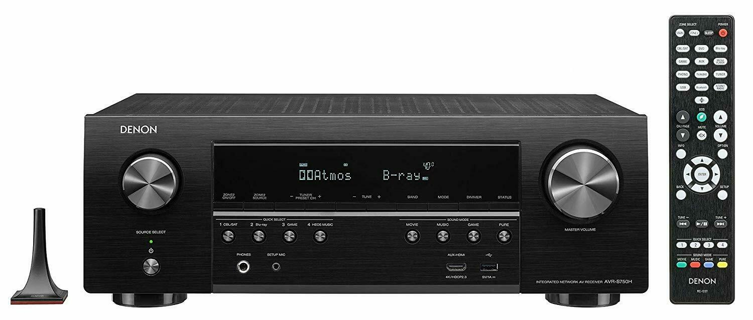 Denon AVR-S750H 7.2 Channel 4K Ultra HD Home Theater Network