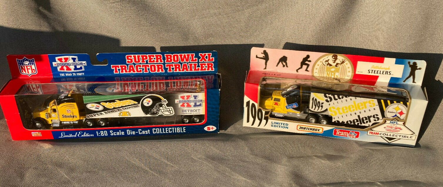 Pr. of Pittsburgh Steelers Semi Trucks 1995 & Super Bowl XL