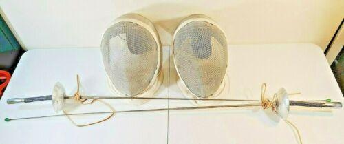 Vintage Castello N.Y.C. Fencing Masks / Helmets & Swords Lot France Prieur Paris