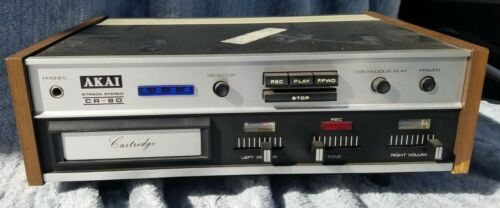 Vintage Akai CR-80 8 Track Stereo 2 Head 2 Channel 50Hz to 16kHz *Working*