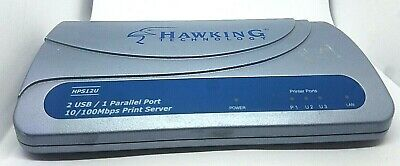Hawking Technology HPS12U 2 USB and 1 Parallel Port Print Server Usb And 1 Parallel Port