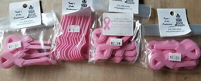 48 Pink Ribbon Breast Cancer Cupcake Picks Cake Topper Decorations Party - Breast Cancer Cupcakes