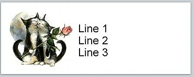 Personalized Address Labels 2 Cats In Love P 656