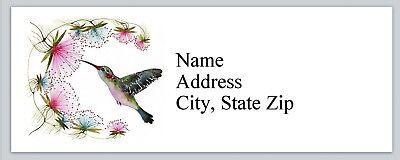 Personalized Address Labels Bird Hummingbird Buy 3 Get 1 Free Bx 820