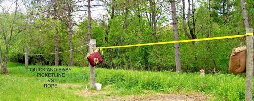 QUICK & EASY HORSE PICKET LINE TREE SAVER TACK CAMPING KNOT ELIMINATORS HIGHLINE
