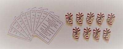 z 9x LEGEND OF THE CANDY CANE faith pocket token charm Christmas symbol reminder