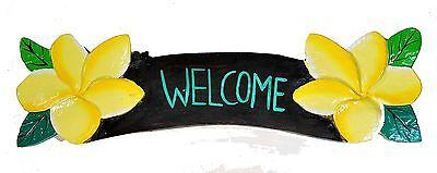 Holzschild Welcome 55cm Dekoration Schild Tiki Style für Restaurant oder Kneipe