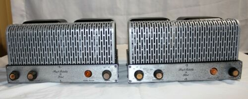 2 Pilot AA-908 Mono block tube amplifier great working condition Restored tested