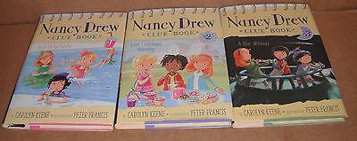 Nancy Drew Clue Book Vol.1,2,3 by Carolyn Keene Hardcover New